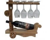 Wooden Wine Bottle Holder Wine Glass Holder Stemware Rack Drying Stand
