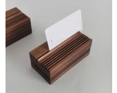 Pure Wood Black Walnut Office Business Card Holder Wooden Pen Holder