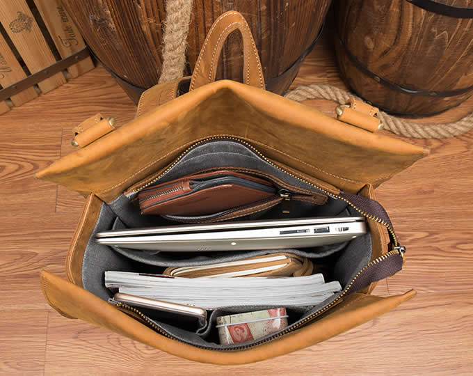 Genuine Leather Backpack  15