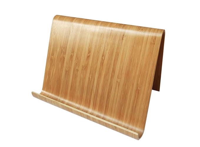 Natural Wooden Ipad And Cook Book Stand Feelgift