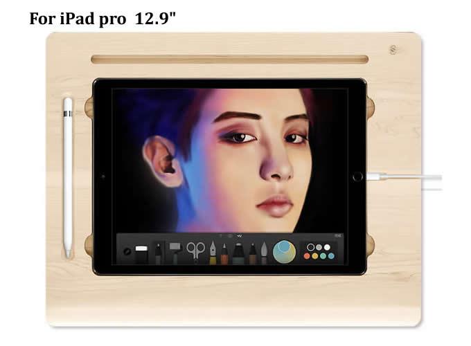 wooden canvas smart board drawing desk with stand for apple ipad pro 12 9 u0026quot  10 5 u201c 9 7 u0026quot  ipad pro