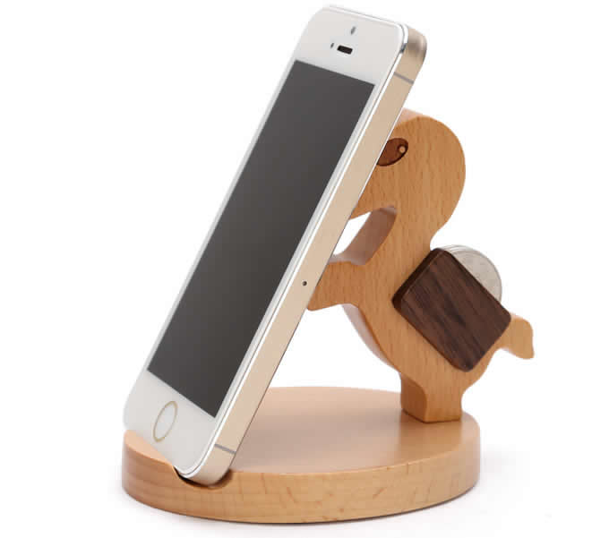 Natural Wooden Horse Cell Phone Stand Holder For Iphone