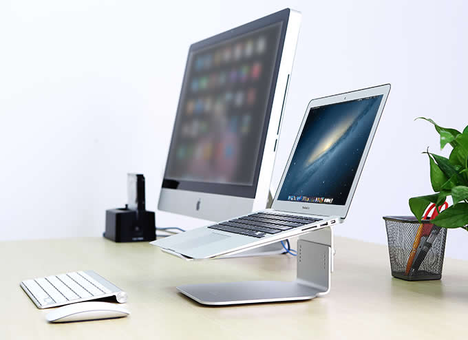 Aluminium Adjustable Laptop Cooling Stand Holder for size 12
