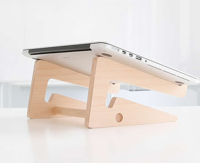Folding Wooden Desktop Stand for Tablets iPad Macbook Air or Pro