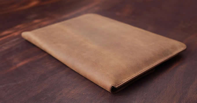 Genuine Leather Envelope Laptop Sleeve Bag for MacBook pro /Air 13.3 Inc