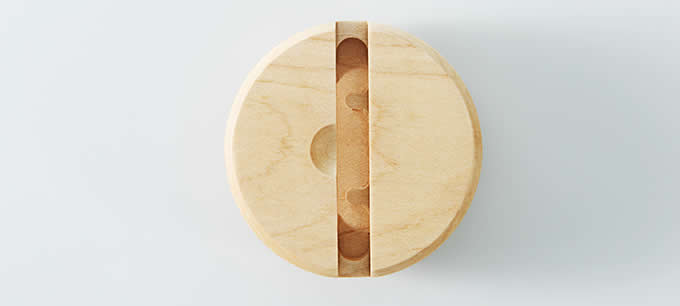 Round Wooden Sound Amplifier Stand Dock for SmartPhone