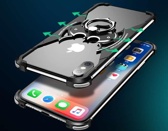 Aluminum Batman Style Bumper Frame Case for iPhone X/XS/XS MAX