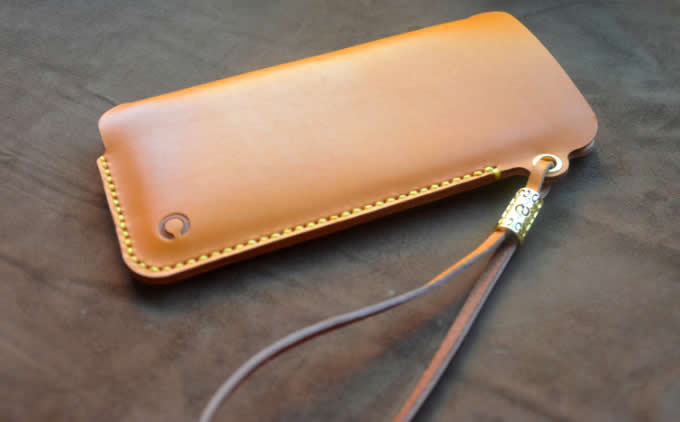 best service 5b908 4cb6d Genuine Leather Phone Pouch with Strap for iPhone 8 8 Plus 7 7 Plus ...