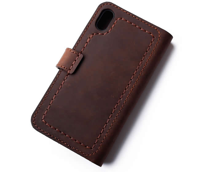huge selection of 2cede d59d2 Handmade Genuine Leather Phone Wallet Case with Card Slots For ...
