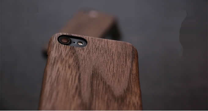 Ultra Thin  Wooden Phone Case for iPhone 7/7 Plus/6/6 Plus/6S/6S Plus(Black Walnut)