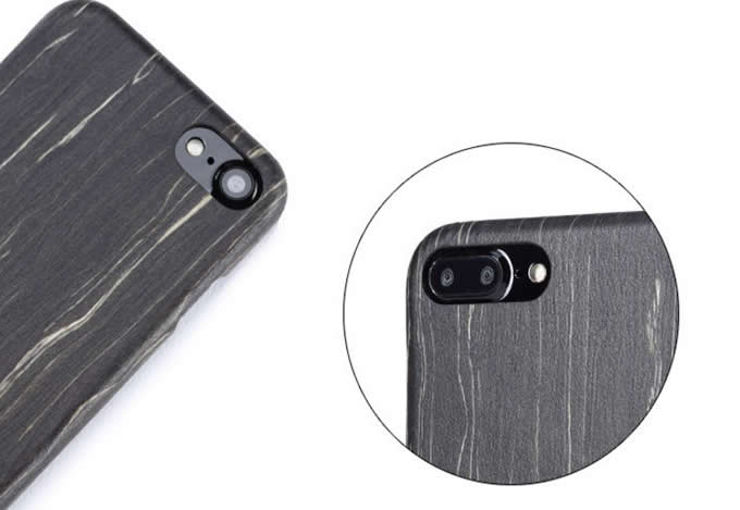 Wooden Drop Proof Slim Cover Case for iPhone 6/6S Plus iPhone7/7 plus, BlACK ICE WOOD