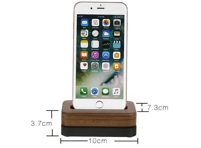 Wooden Amp Aluminum Iphone Desk Charger Stand Dock Station