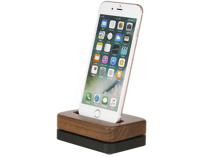 release date: a56d0 9856f Wooden & Aluminum iPhone Desk Charger Stand Dock Station Holder for ...