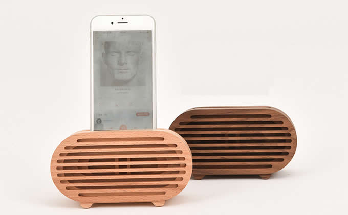 Wooden Portable Cell Phone Stand Phone Holder with Sound Amplifier Amplification Stands for iPhone 8 8 Plus 77 Plus6s6s Plus
