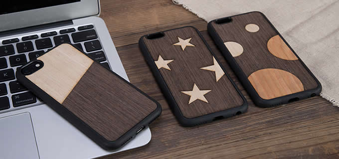 Wooden Back Shell Cover With Metal Silicone Bumper Frame Case for iPhone XS Max/8/8Plus/7/7 Plus