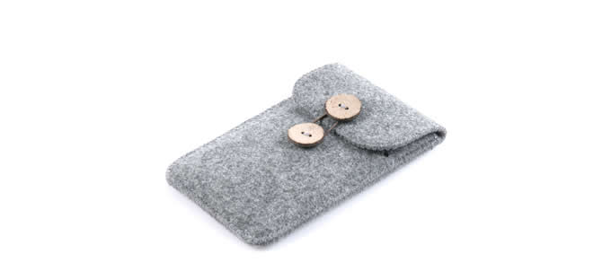 Wool Felt Protective Sleeve Bag Pocket Pouch Case with Card Slot for iPhone 7/7 Plus/6/6 Plus/6S/6S Plus