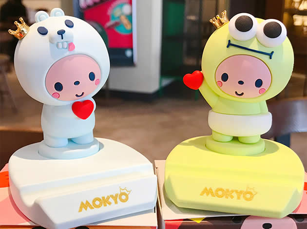 Fun Cute happy cartoon animal desktop phone holder