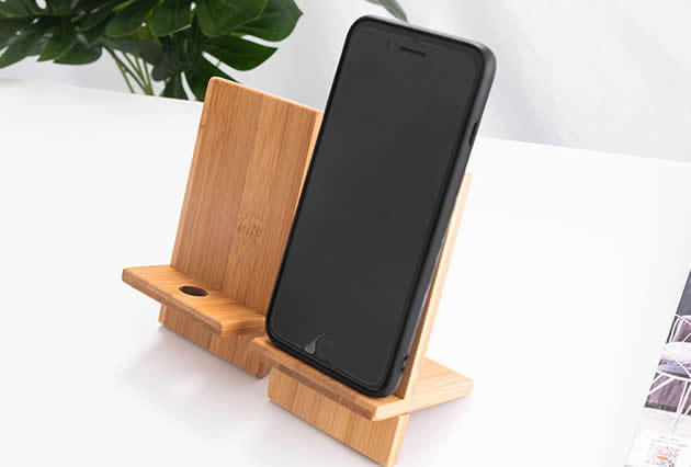 Simple Bamboo Wood Splicing Combination Cell Phone Holder
