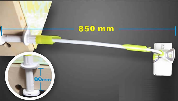 360 Degrees Rotating Bed Desk Tablet Mount Holder Stand for Mobile phone