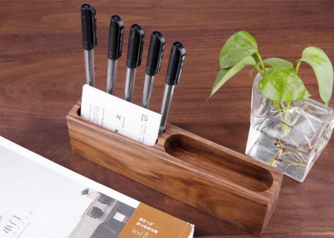 Wooden  Pen Pencil Holder Cell Phone Holder Stand Office Desk Organizer