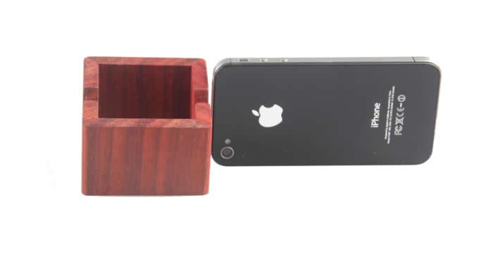 Portable Universal Wooden Desktop Desk Phone Holder