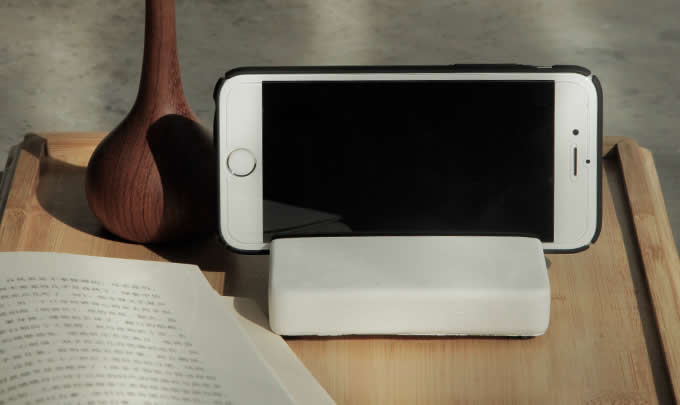 Concrete  Desktop Cell Phone Holder Stand Mount for iPhone and Other Cell Phone