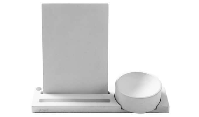 Concrete Multi-function Desk Stationery Organizer