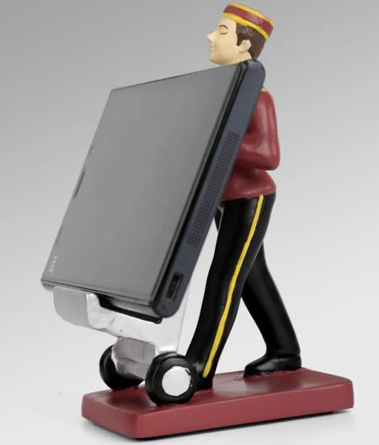Luggage Cart  Poly Resin Phone Holder Stand