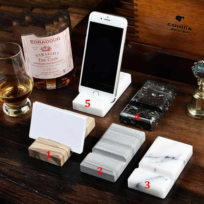 Marble Desktop Cell Phone Holder Stand Mount for iPhone and Other Cell Phone