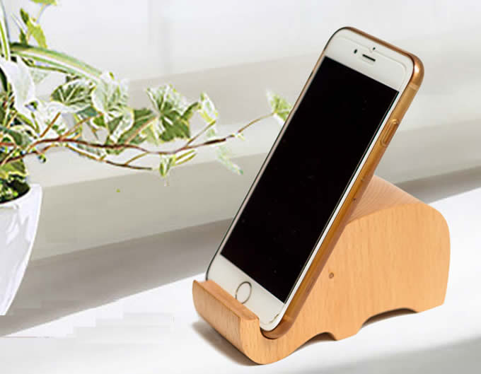 Cute Wooden Animal Cell Phone Tablet Stand Holder Feelgift
