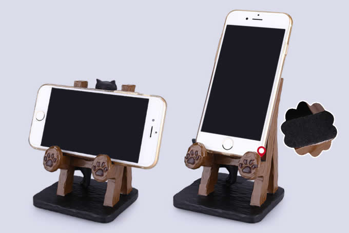 Mini Ladder Mobile Cell Phone Holder Stand With Animal