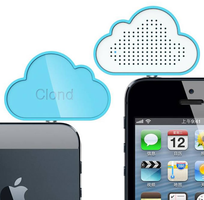 Mini Portable Cloud Speaker Silicone Sucker Stand For Cell