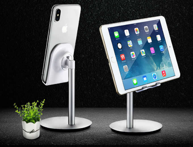 Multi-Angle Adjustable Aluminum Tablet/Smartphone Stand For Tablets & iPad iPhone Samsung Asus Tablet Smartphone and more up to 9.7 inches