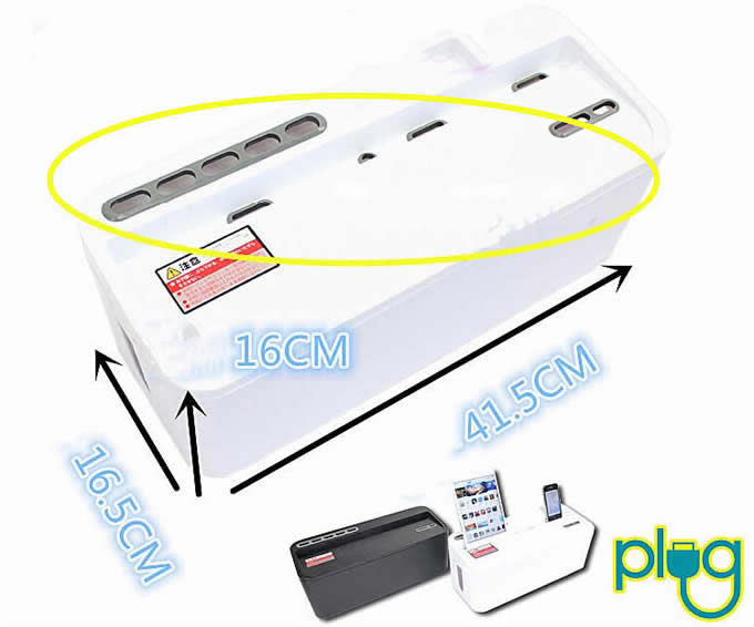 Multi-function Cable Cord Management Storage Box Charger Holder For Smartphones & iPads