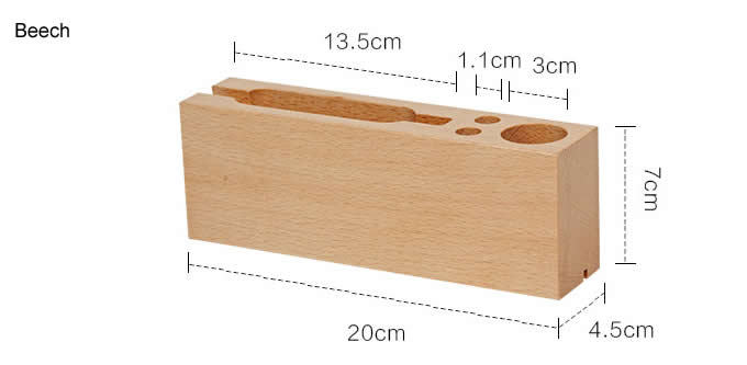 Multipurpose Wooden Pen Pencil Holder Phone Charging Station Stand Desk Organizer