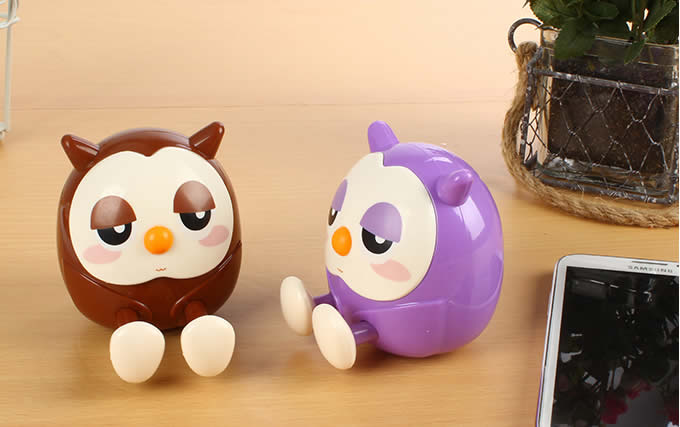 Owl Piggy Bank Cell Phone Stand Holder