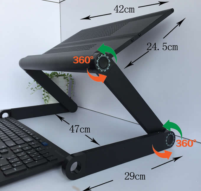 Portable Aluminum  Laptop Table Stand Adjustable Riser