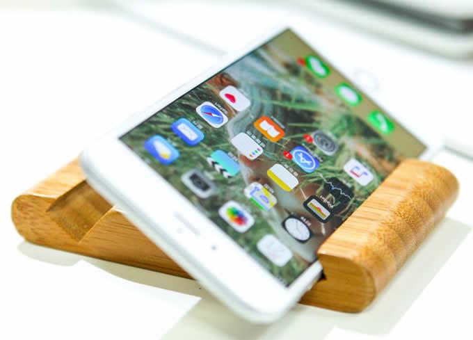 Portable Bamboo Desktop Cell Phone Holder