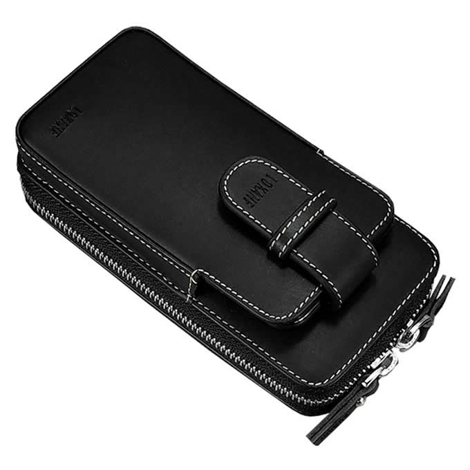 Portable Genuine Leather Phone Pouch Phone Bag Travel Purse Wallet