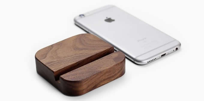 Portable Wooden Desktop Cell Phone Holder Stand Mount for iPhone  and Other Cell Phone