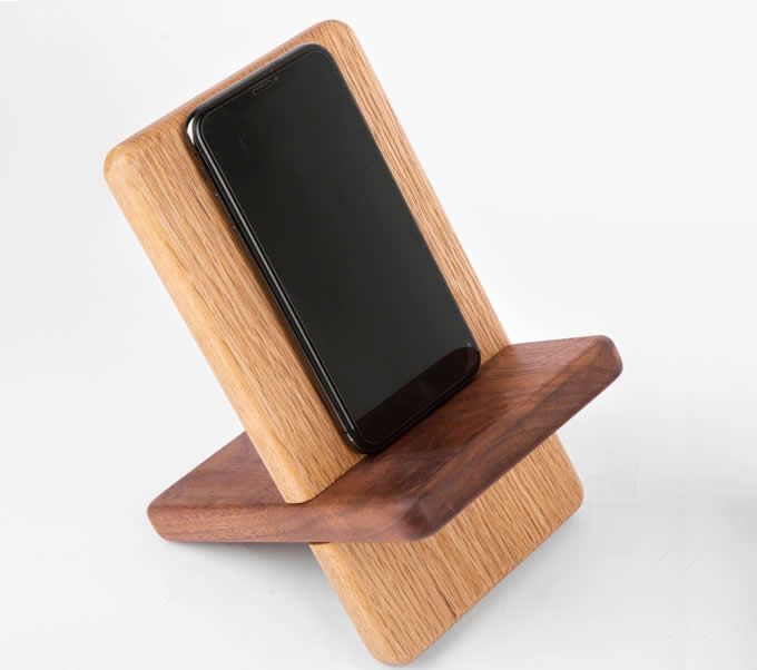 Portable Wooden Tablet Stand Mobile Phone Holder Headphone Stand