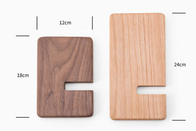 Portable Wooden Tablet Stand Mobile Phone Holder Headphone