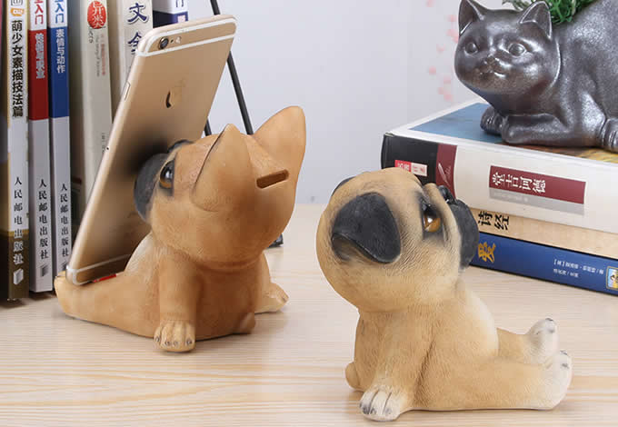 Puppy Dog Piggy Bank Cell Phone Stands Smartphone Holder for Desk