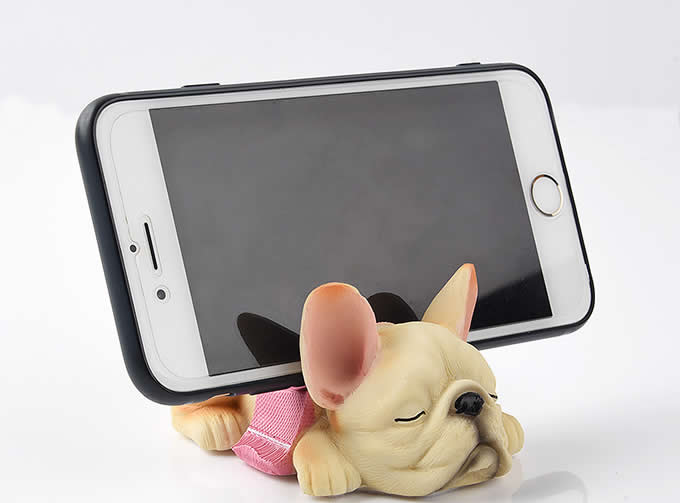 Resin Cartoon Dog Shape Cell Phone Stand