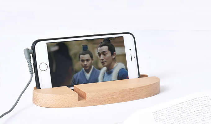 Universal Wooden PortableDesktop Cell Phone Stand for   Mobile Phone