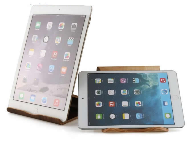 Universal Wooden Multi Angle Tablet Stand Holder for iPad Android Tablets