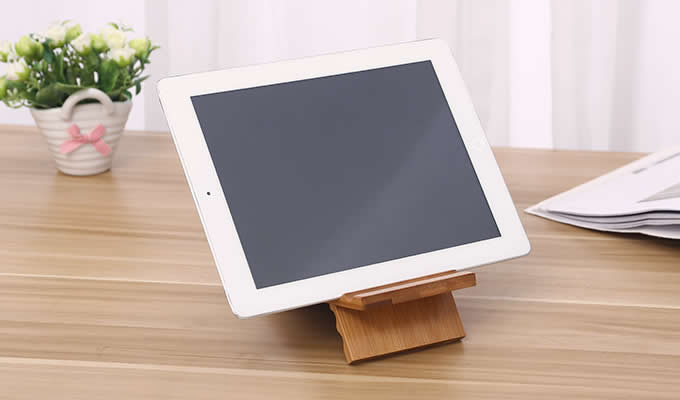 Universal Wooden Multi-angle Cell Phone Stand Holder Tablet Stand