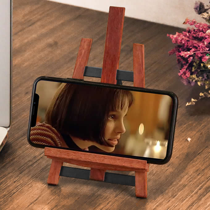 Wood Bamboo Foldable Multi-Angle Stand Holder for Smartphone iPad