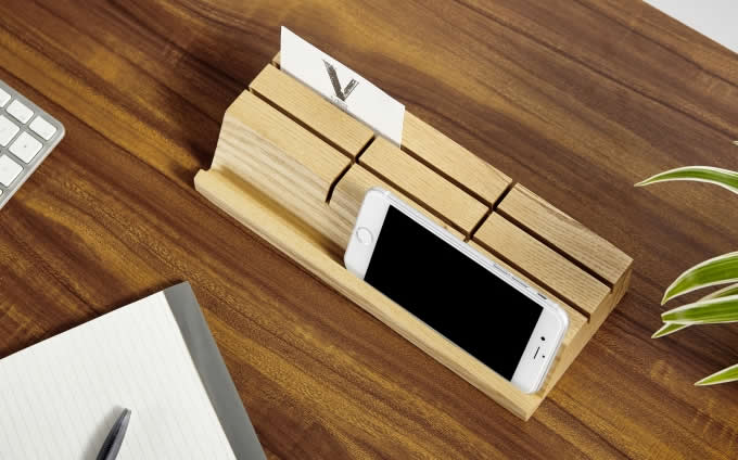 Wooden business card holder mobile phone ipad holder stand feelgift wooden business card holder mobile phone ipad holder stand reheart Images