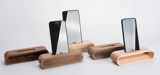 Wooden Cell Phone Charging Dock Sound Amplifier Stand Dock for iPhone 7 7 Plus 6 6s Plus